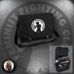FEMINIST FIGHTING CLUB MESSENGER BAG SCHWARZ