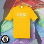 LOVE IS LOVE T-SHIRT 3XL / yellow