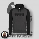 LOVE MUSIC HATE FASCISM CONTRAST HOOD M