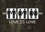LOVE IS LOVE STICKER (10 Stück)
