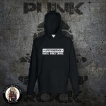 LOVE PUNKROCK HATE GREYZONE HOOD Black / S