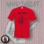 MINOR THREAT BOTTLE T-SHIRT XL / ROT