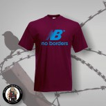 NO BORDERS T-SHIRT BURGUNDI