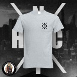 NYHC (NEW YORK HARDCORE) LOGO T-SHIRT GRAU / 5XL