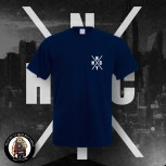 NYHC (NEW YORK HARDCORE) LOGO T-SHIRT NAVY / 4XL