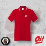 OI! WHITE POLO 3XL / ROT