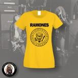 RAMONES LOGO GIRLIE L / GELB
