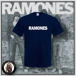 RAMONES SIMPLE T-SHIRT L / NAVY