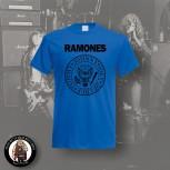 RAMONES LOGO SHIRT S / BLAU