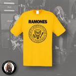 RAMONES LOGO SHIRT S / GELB