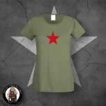 GIRLIE RED STAR XL / OLIVE