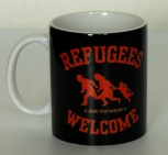 REFUGEES WELCOME KAFFEEBECHER