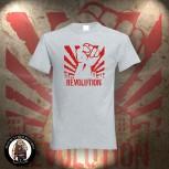 REVOLUTION FIST T-SHIRT GRAU / 5XL