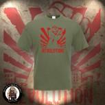 REVOLUTION FIST T-SHIRT M / OLIVE