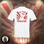 REVOLUTION FIST T-SHIRT WEISS / 5XL