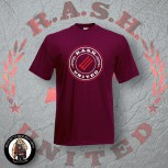 RASH UNITED T-SHIRT S / BORDEAUX ROT