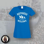 REFUGEES WELCOME GIRLIE M / BLAU