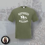 REFUGEES WELCOME T-SHIRT XL / OLIVE