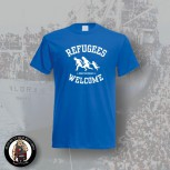REFUGEES WELCOME T-SHIRT S / BLAU