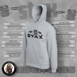 STAX OLD LOGO HOOD grey / 4XL
