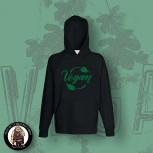 VEGAN LEAF HOOD Black / S