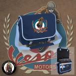 VESPA MOTORSPORT VINTAGE MESSENGER BAG NAVY
