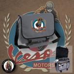 VESPA MOTORSPORT VINTAGE MESSENGER BAG GRAU