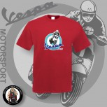VESPA MOTORSPORT CLASSIC T-SHIRT M / BRICKRED