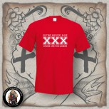 STRAIGHT EDGE T-SHIRT red / 5XL